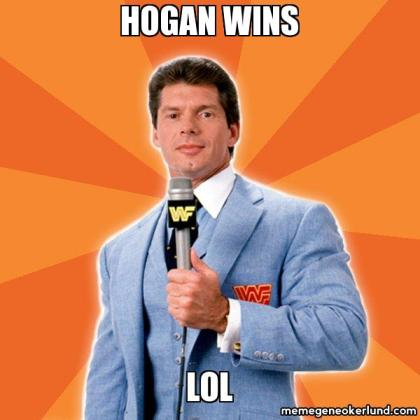Hogan wins LOL