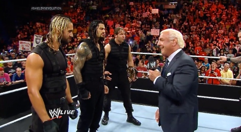 RAW 042814 Ric Flair The Shield