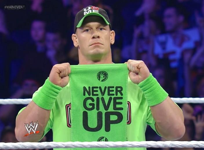 Brock Lesnar Should Make Cena Tap Out At SummerSlam ...  |John Cena Logo Never Give Up 2014