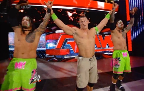 RAW 051214 John Cena 3 Usos