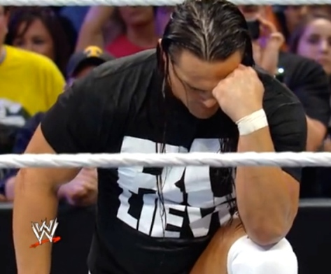 RAW 052614 Bo Dallas Tebowing