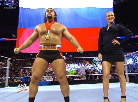 Main Event 061714 Rusev Lana Russia