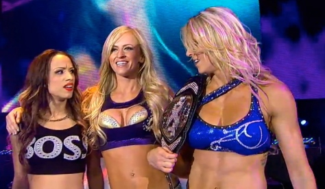 NXT 060514 Sasha Banks Summer Rae Charlotte