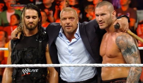 RAW 060214 Seth Rollins Triple H Randy Orton 2