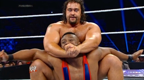 SmackDown 080814 Rusev Big E
