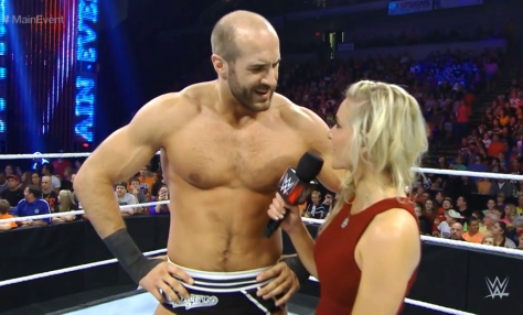 Main Event 090914 Cesaro Renee Young