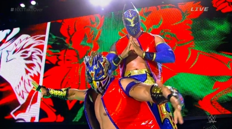 The Lucha Dragons, Sin Cara and Kalisto, led off the night as challengers for The Ascension's NXT Tag Team Championship.