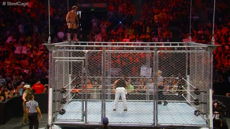 RAW 090814 Chris Jericho steel cage