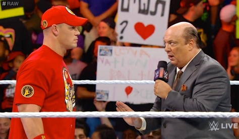 RAW 090814 John Cena Paul Heyman