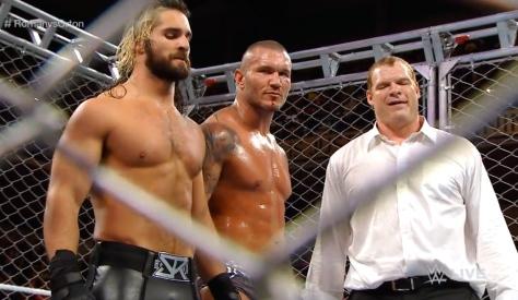RAW 090814 Seth Rollins Randy Orton Kane