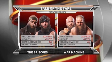 ROH 083014 War Machine The Briscoes 2